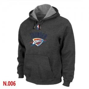 Pullover Sweat à capuche Oklahoma City Thunder NBA Gris foncé - Homme