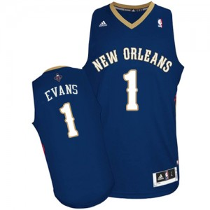 Maillot Swingman New Orleans Pelicans NBA Road Bleu marin - #1 Tyreke Evans - Homme