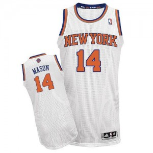 Maillot NBA Blanc Anthony Mason #14 New York Knicks Home Authentic Homme Adidas