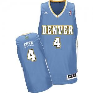 Denver Nuggets Randy Foye #4 Road Swingman Maillot d'équipe de NBA - Bleu clair pour Homme