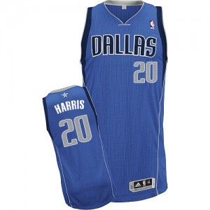 Maillot NBA Bleu royal Devin Harris #20 Dallas Mavericks Road Authentic Homme Adidas