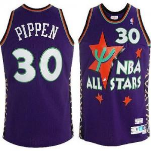 Maillot Swingman Chicago Bulls NBA Throwback 1995 All Star Violet - #30 Scottie Pippen - Homme