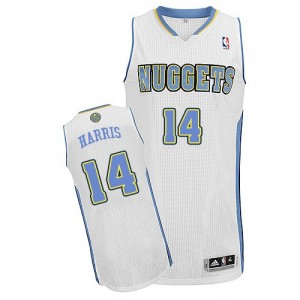 Maillot NBA Blanc Gary Harris #14 Denver Nuggets Home Authentic Homme Adidas