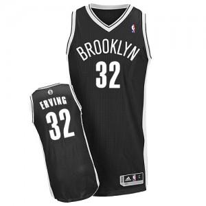 Brooklyn Nets Julius Erving #32 Road Authentic Maillot d'équipe de NBA - Noir pour Homme