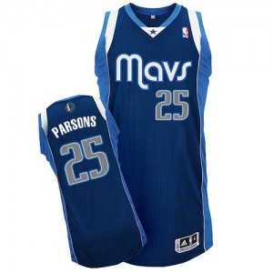 Dallas Mavericks Chandler Parsons #25 Alternate Authentic Maillot d'équipe de NBA - Bleu marin pour Homme