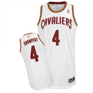 Maillot Adidas Blanc Home Authentic Cleveland Cavaliers - Iman Shumpert #4 - Homme