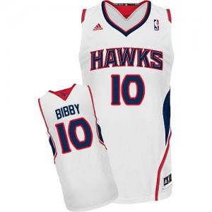 Maillot Adidas Blanc Home Swingman Atlanta Hawks - Mike Bibby #10 - Homme