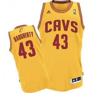 Maillot Authentic Cleveland Cavaliers NBA Alternate Or - #43 Brad Daugherty - Homme