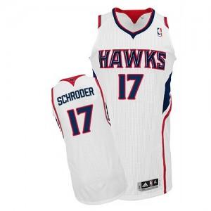 Maillot Adidas Blanc Home Authentic Atlanta Hawks - Dennis Schroder #17 - Homme