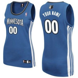 Maillot NBA Slate Blue Authentic Personnalisé Minnesota Timberwolves Road Femme Adidas