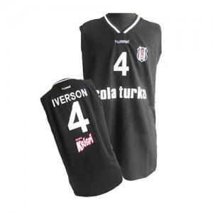 Philadelphia 76ers Allen Iverson #4 Authentic Maillot d'équipe de NBA - Noir pour Homme