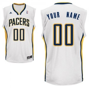 Maillot Indiana Pacers NBA Home Blanc - Personnalisé Swingman - Homme