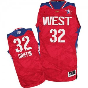 Maillot NBA Rouge Blake Griffin #32 Los Angeles Clippers 2013 All Star Authentic Homme Adidas