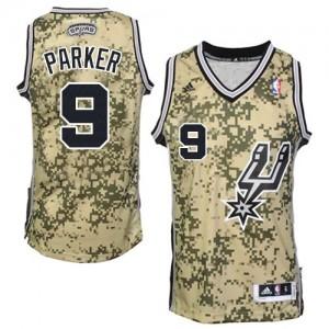 Maillot Authentic San Antonio Spurs NBA Camo - #9 Tony Parker - Homme
