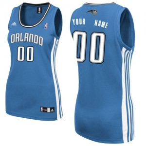 Maillot NBA Orlando Magic Personnalisé Swingman Bleu royal Adidas Road - Femme