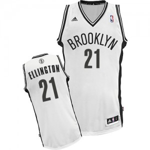 Brooklyn Nets #21 Adidas Home Blanc Swingman Maillot d'équipe de NBA Braderie - Wayne Ellington pour Homme