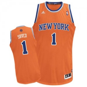 Maillot Adidas Orange Alternate Swingman New York Knicks - Alexey Shved #1 - Homme