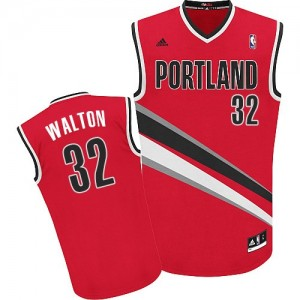 Portland Trail Blazers Bill Walton #32 Alternate Swingman Maillot d'équipe de NBA - Rouge pour Homme