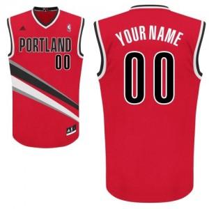 Portland Trail Blazers Personnalisé Adidas Alternate Rouge Maillot d'équipe de NBA Promotions - Swingman pour Femme