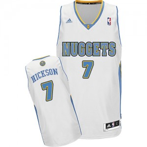 Maillot NBA Denver Nuggets #7 JJ Hickson Blanc Adidas Swingman Home - Homme