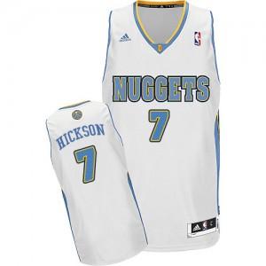 Maillot NBA Denver Nuggets #7 JJ Hickson Blanc Adidas Swingman Home - Homme