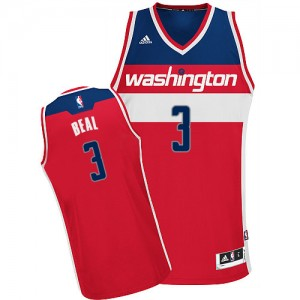 Washington Wizards Bradley Beal #3 Road Swingman Maillot d'équipe de NBA - Rouge pour Homme