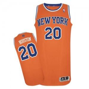 Maillot NBA Authentic Allan Houston #20 New York Knicks Alternate Orange - Homme