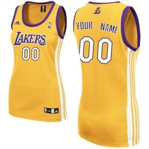 Los Angeles Lakers Personnalisé Adidas Home Or Maillot d'équipe de NBA sortie magasin - Swingman pour Femme