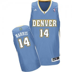 Maillot NBA Bleu clair Gary Harris #14 Denver Nuggets Road Swingman Homme Adidas
