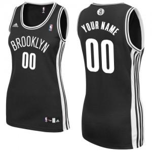 Brooklyn Nets Personnalisé Adidas Road Noir Maillot d'équipe de NBA pour pas cher - Swingman pour Femme