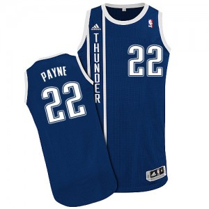 Maillot NBA Oklahoma City Thunder #22 Cameron Payne Bleu marin Adidas Authentic Alternate - Homme