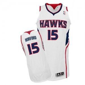 Maillot Authentic Atlanta Hawks NBA Home Blanc - #15 Al Horford - Homme