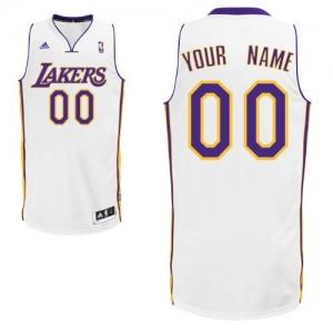 Los Angeles Lakers Personnalisé Adidas Alternate Blanc Maillot d'équipe de NBA boutique en ligne - Swingman pour Homme