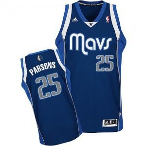 Dallas Mavericks #25 Adidas Alternate Bleu marin Swingman Maillot d'équipe de NBA Braderie - Chandler Parsons pour Homme