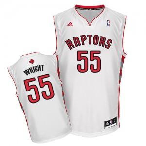 Toronto Raptors #55 Adidas Home Blanc Swingman Maillot d'équipe de NBA magasin d'usine - Delon Wright pour Homme