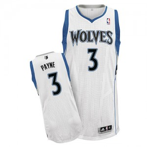 Maillot Authentic Minnesota Timberwolves NBA Home Blanc - #3 Adreian Payne - Homme