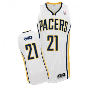 Maillot Adidas Blanc Home Authentic Indiana Pacers - A.J. Price #21 - Homme