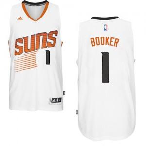 Phoenix Suns #1 Adidas Home Blanc Authentic Maillot d'équipe de NBA Vente - Devin Booker pour Homme