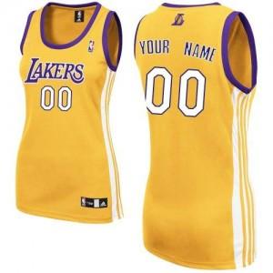 Los Angeles Lakers Personnalisé Adidas Home Or Maillot d'équipe de NBA en ligne pas chers - Authentic pour Femme
