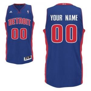 Maillot NBA Detroit Pistons Personnalisé Swingman Bleu royal Adidas Road - Enfants