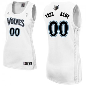 Maillot NBA Swingman Personnalisé Minnesota Timberwolves Home Blanc - Femme