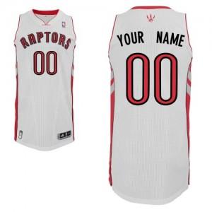 Maillot Adidas Blanc Home Toronto Raptors - Authentic Personnalisé - Homme