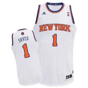 Maillot Adidas Blanc Home Swingman New York Knicks - Alexey Shved #1 - Homme