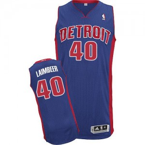 Maillot Authentic Detroit Pistons NBA Road Bleu royal - #40 Bill Laimbeer - Homme
