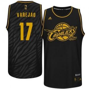 Cleveland Cavaliers Anderson Varejao #17 Precious Metals Fashion Authentic Maillot d'équipe de NBA - Noir pour Homme