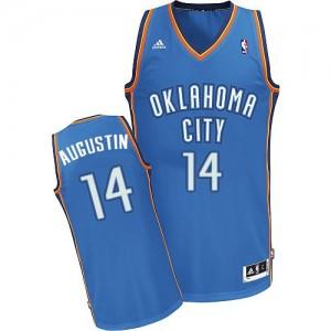 Maillot NBA Bleu royal D.J. Augustin #14 Oklahoma City Thunder Road Swingman Homme Adidas