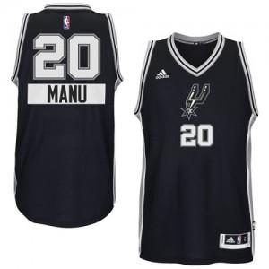 San Antonio Spurs #20 Adidas 2014-15 Christmas Day Noir Authentic Maillot d'équipe de NBA vente en ligne - Manu Ginobili pour Homme