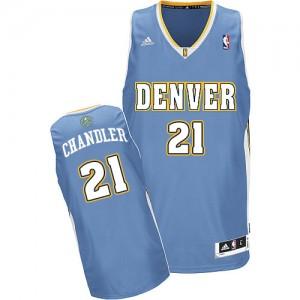Maillot NBA Swingman Wilson Chandler #21 Denver Nuggets Road Bleu clair - Homme