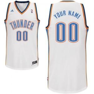 Oklahoma City Thunder Personnalisé Adidas Home Blanc Maillot d'équipe de NBA Magasin d'usine - Swingman pour Homme