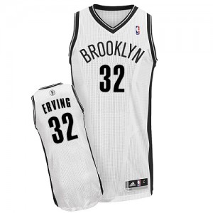 Maillot NBA Authentic Julius Erving #32 Brooklyn Nets Home Blanc - Homme